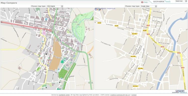 Comparativa mapas Medina de Pomar
