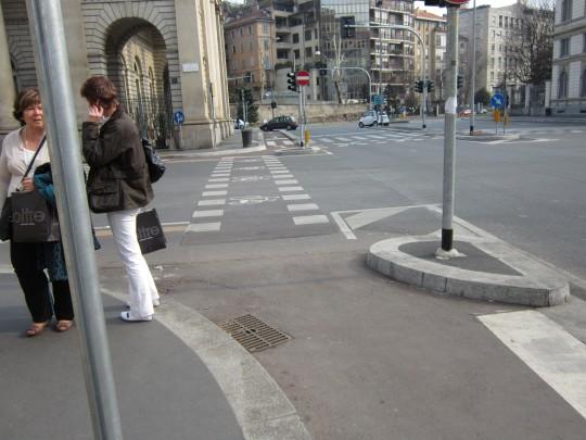 Esquina carril bici