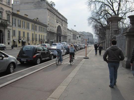 Carril bici Milán